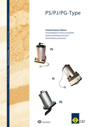 Pneumatic Hemmers &Blasters PS/PJ/PG -TYPE Brochure