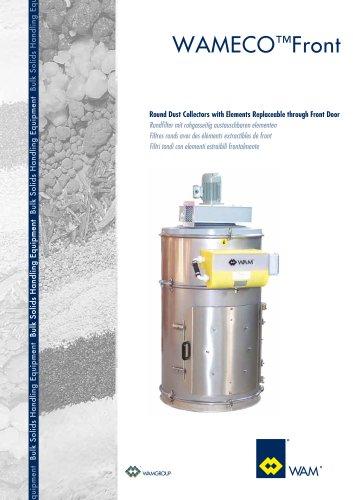 Round Dust Collectors with Elements Replaceable Through door WAMECO  TM FRONT Brochure