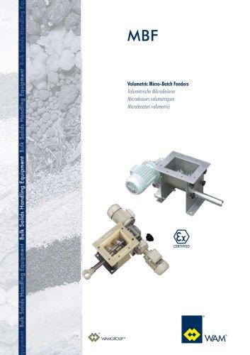 Volumetric Micro- Batch Feeders MBF  Brochure
