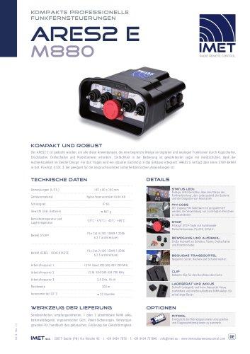 Technische Daten M880 ARES2 E