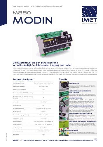 Technische Daten M880 Modin