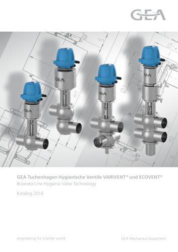 Hygienische Ventile VARIVENT und ECOVENT  Katalog 2014