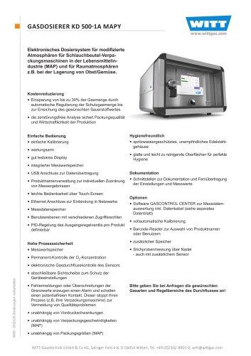 GASDOSIERER KD 500-1A MAPY
