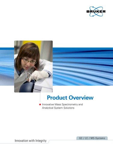 Product Overview - Innovative Mass Spectrometry and Analytical System Solutions