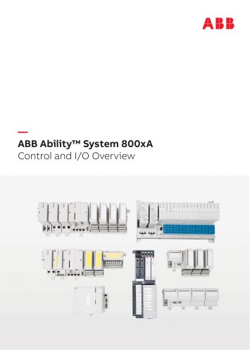 ABB Ability™ System 800xA Control and I/O Overview