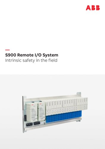 S900 Remote I/O System Intrinsic safety in the field