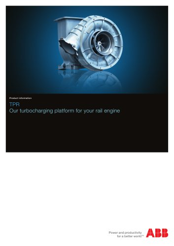 TPR, Our turbocharging platform for your rail engine