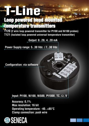 Loop powered transmitters (B-Head mounting)