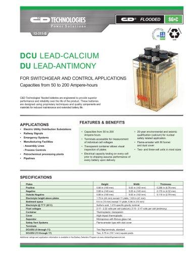 DCU Lead-Calcium / DU Lead-Antimony