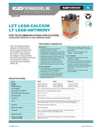 LCT LEAD-CALCIUM LT LEAD-ANTIMONY