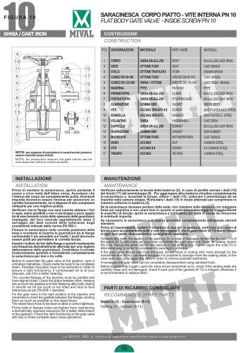 Gate valve – Item 10