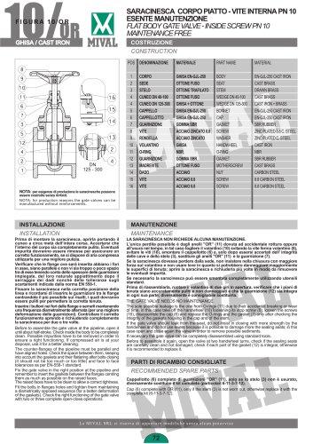 Gate valve – Item 10/OR