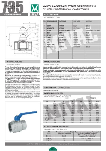 One piece ball valve full bore class 800