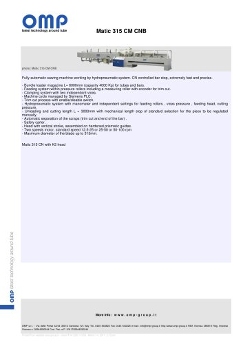 Matic 315 CM CNB