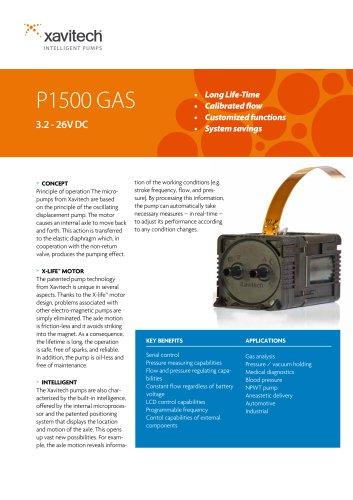 P1500 0-1100ml/min & +500mbar