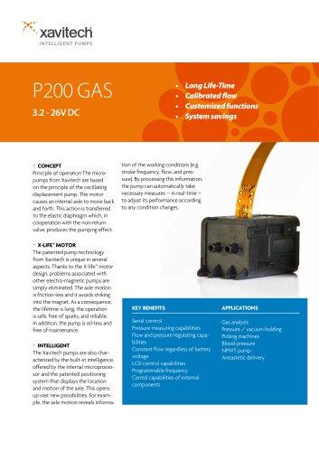 P200 0-400ml/min & +450mbar