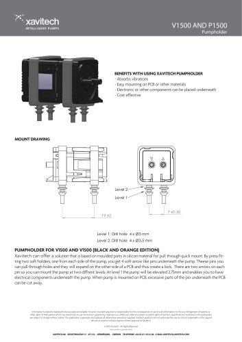 V1500 AND P1500 Pumpholder