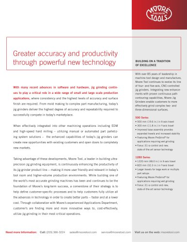 Greater accuracy and productivity through powerful new technology
