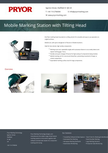 Mobile Marking Station with Tilting Head