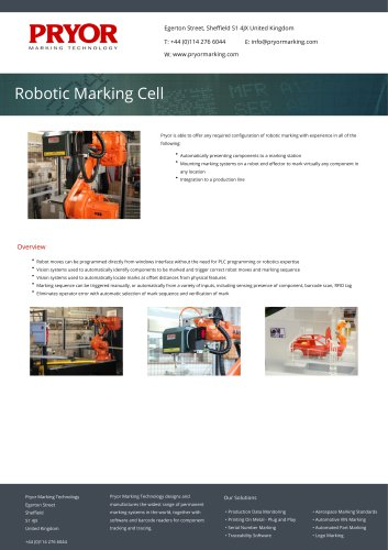 Robotic Marking Cell