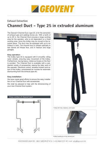 Channel duct