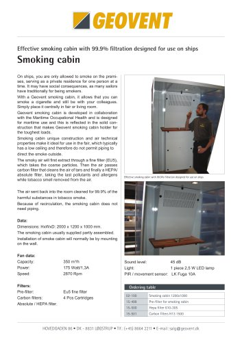 Smoking cabin