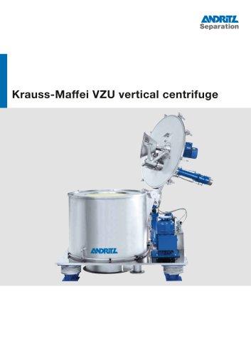ANDRITZ Krauss-Maffei VZU vertical centrifuge