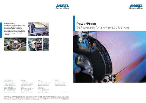 Power press belt filter