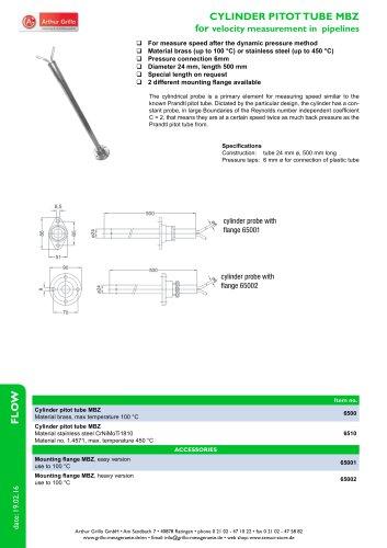 cylinder pitot tube MBZ