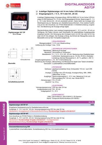 Datenblatt AD72P
