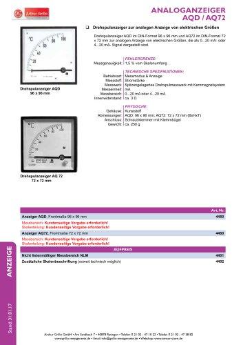 Datenblatt AQD / AQ72