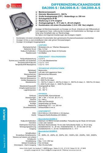 Datenblatt DA2000 Serie im Schutzgehäuse