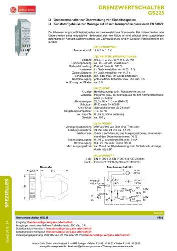 Datenblatt GS225