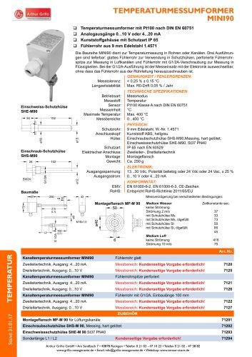 Datenblatt MINI90