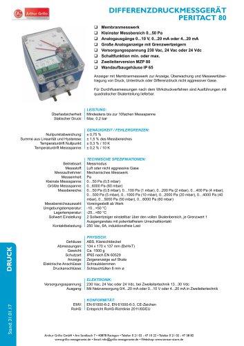 Datenblatt Peritact80