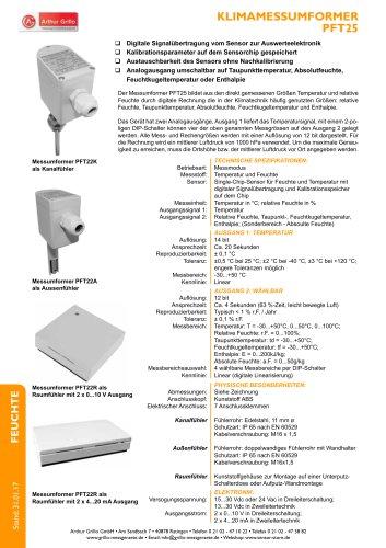 Datenblatt PFT25 Serie