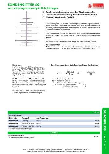 Datenblatt Sondengitter - SGI