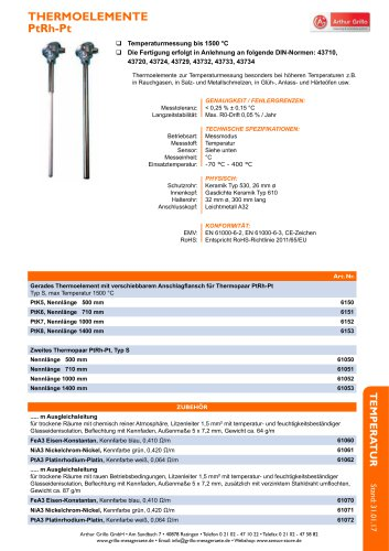 Datenblatt Thermocouple