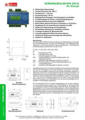 Datenblatt WR200D
