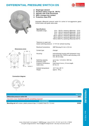 DS - pressure switch