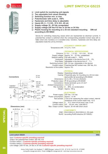 LIMIT SWITCH GS225