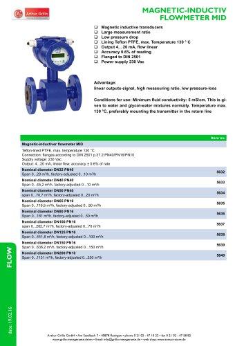 MID - magnetic inductiv flowmeter