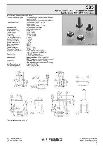 505 series - Tact Switches
