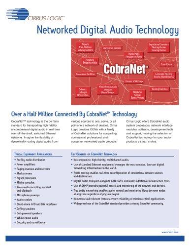 CobraNet® Audio Networking Processor Series