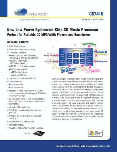 CS7410 CD/MP3/WMA Audio Controller