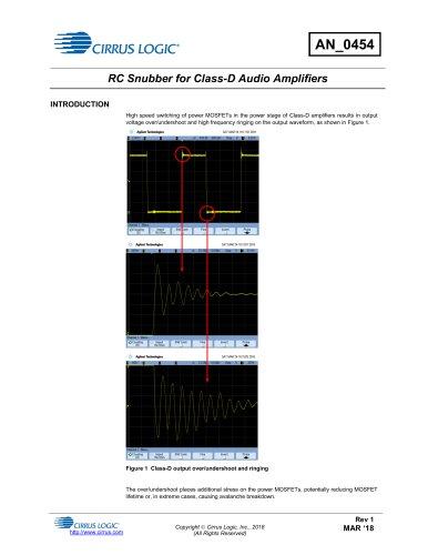 RC Snubber for Class-D Audio Amplifiers