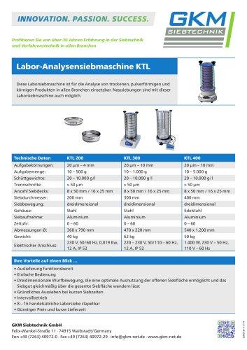 Labor-Analysensiebmaschine KTL