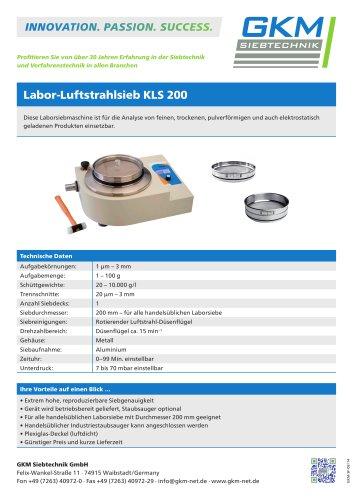 Labor-Luftstrahlsieb KLS 200