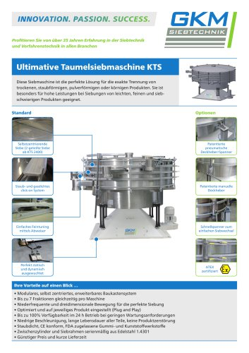 Ultimative Taumelsiebmaschine (KTS)