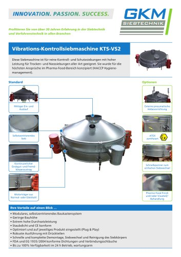 Vibrations-Kontrollsiebmaschine KTS-VS2